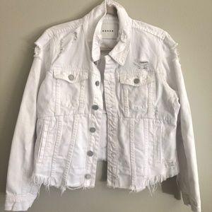 White Blank NYC Distressed Denim Jacket
